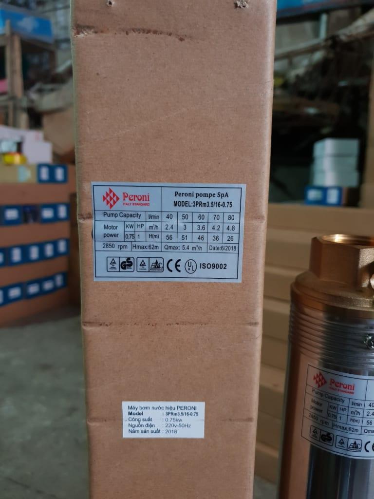 BƠM HỎA TIỄN PERONI 3INCH 0.75KW